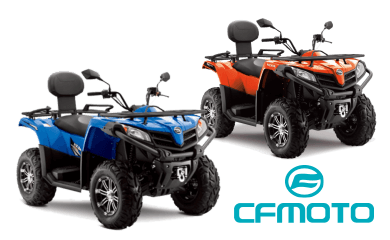 cfmoto atv in santorini