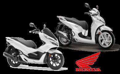 honda scooter in santorini