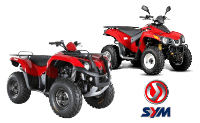 sym atv in santorini